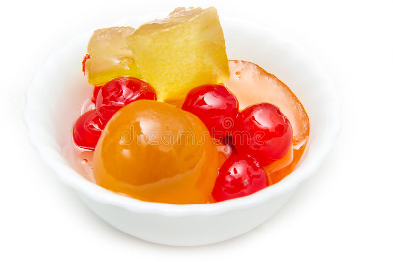 Download Italian Mustard With Candied Fruit And Syrup On White Bowl Stock Photo - Image of pear, traditional: 83762424