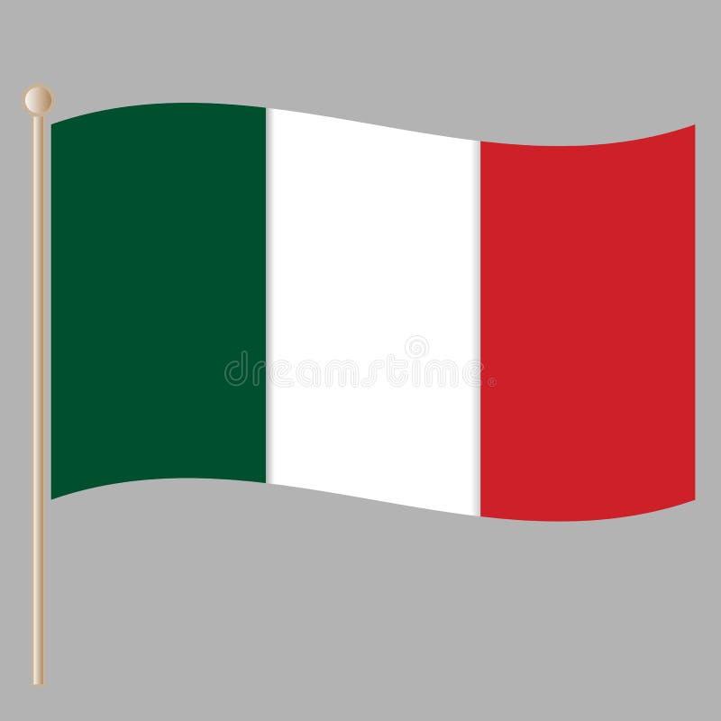 Free Italian National Flag On The Flagpole Royalty Free Stock Images - 142152199