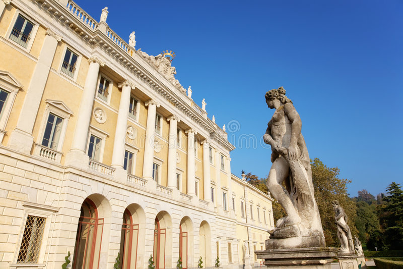 Italian neoclassic villa royalty free stock photos