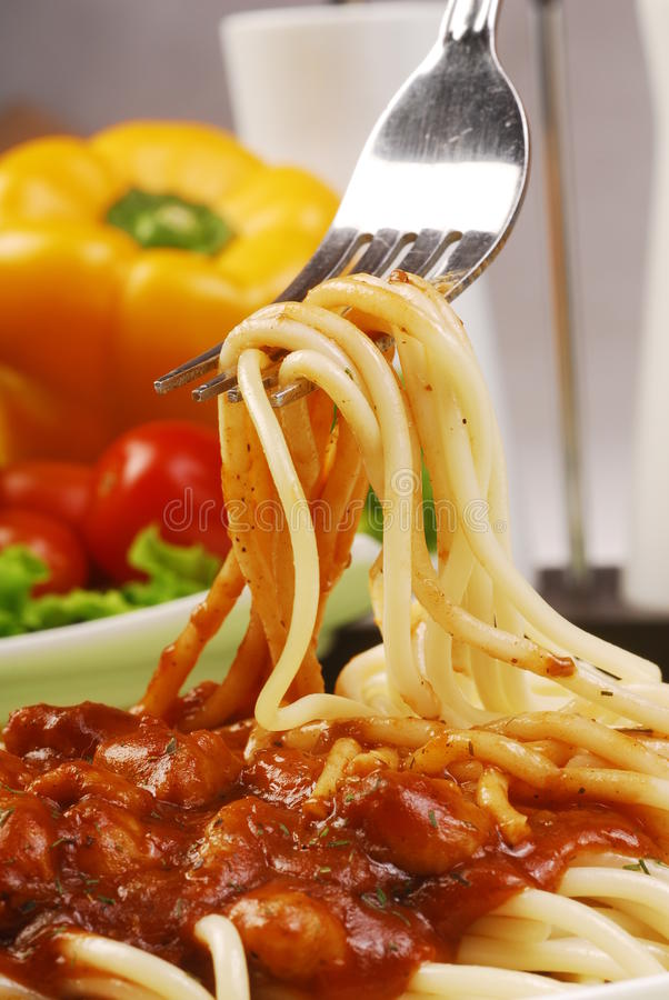 Italian noodle stock image