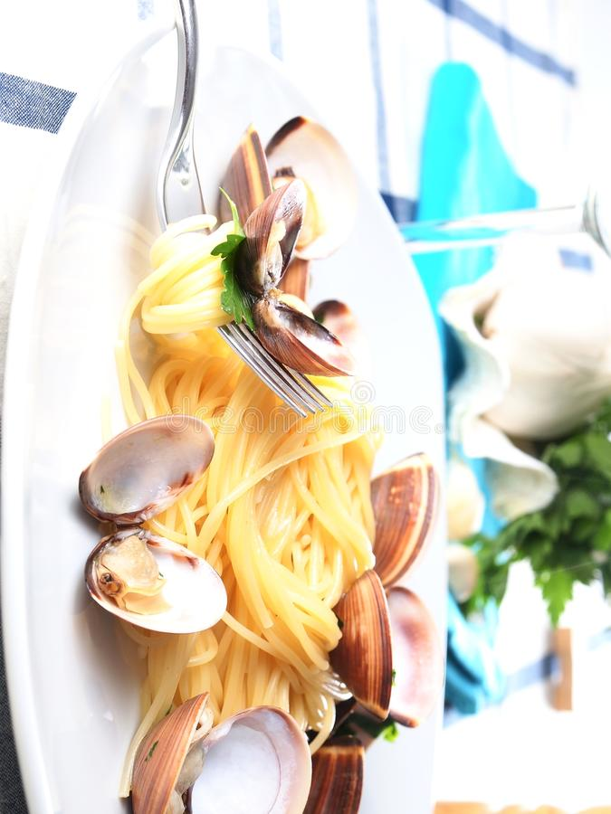 Download Italian Noodle Pasta With Mussels Stock Image - Image: 30813705