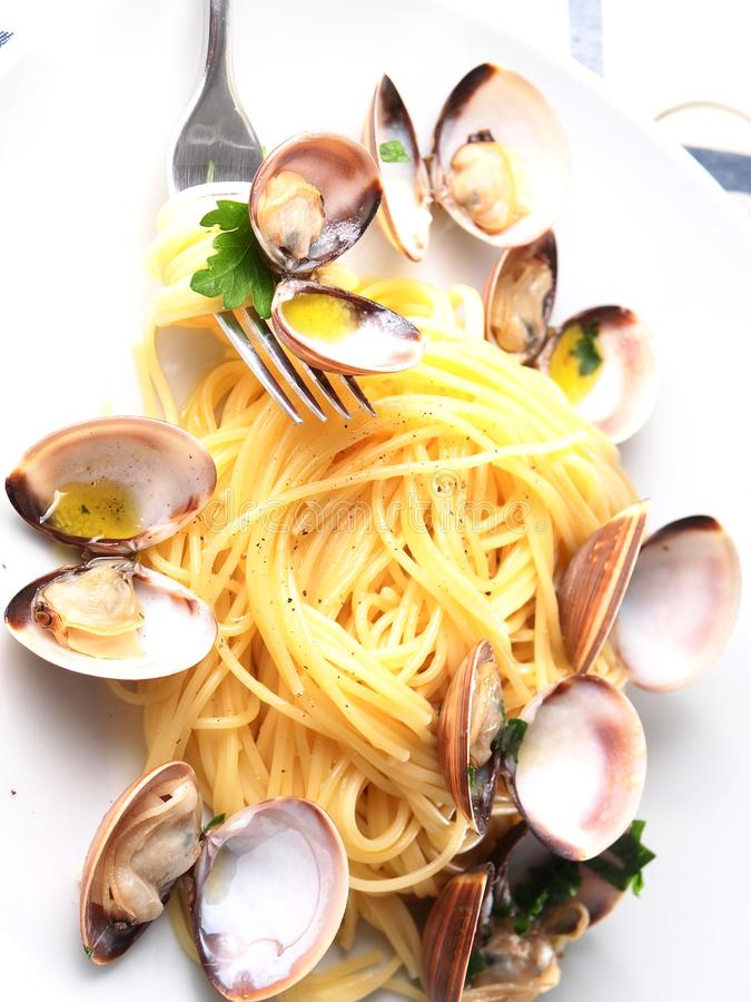 Download Italian Noodle Pasta With Mussels Stock Image - Image: 30813823