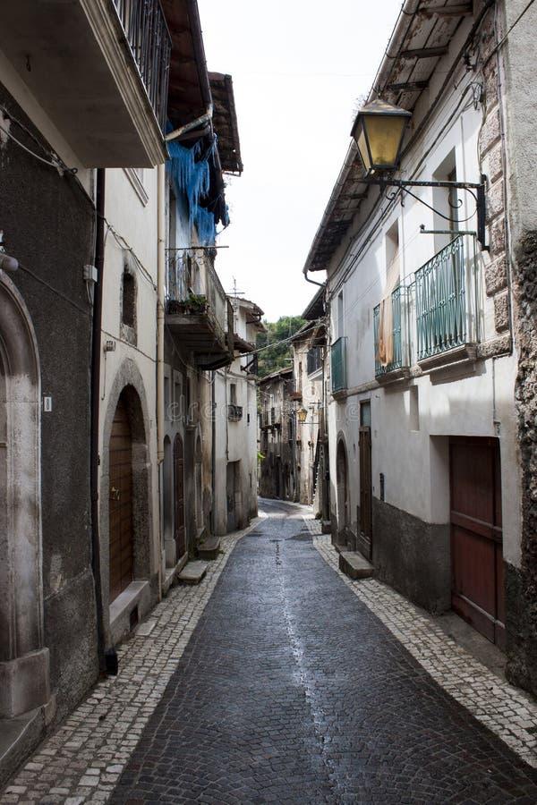 Italian old city street royalty free stock photo