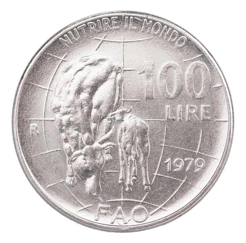 Italian old coins royalty free stock images