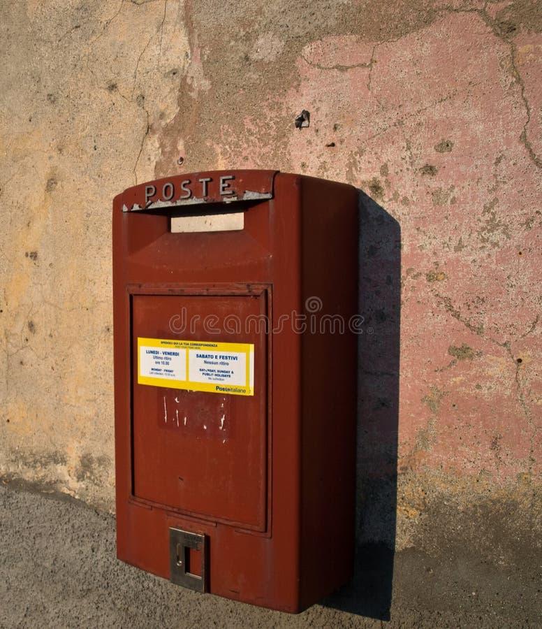 Italian old mailbox stock photography