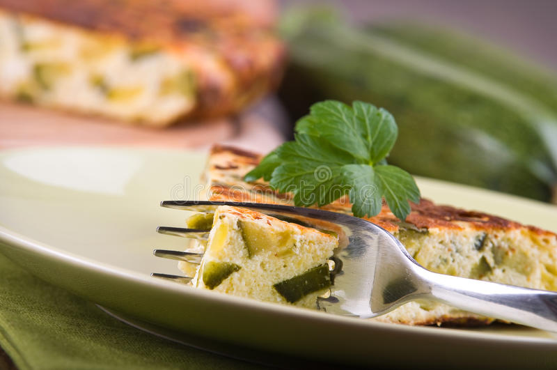 Italian omelette with zucchini.