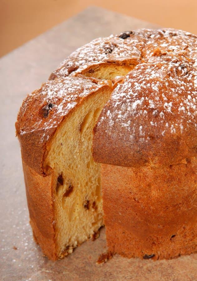 Italian Panettone Christmas Bread stock photo