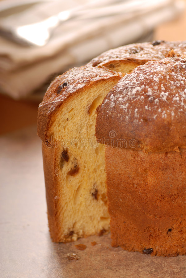 Italian Panettone Christmas Bread royalty free stock photography