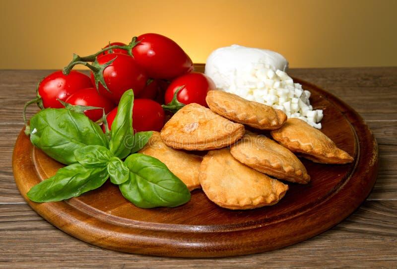 Italian panzerotti stock photo