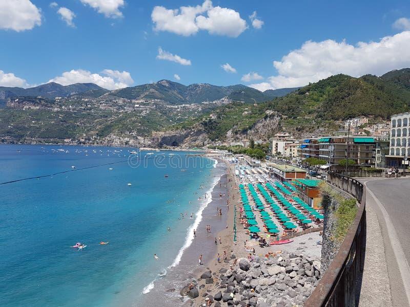 Italian paradise Amalfi coast Maiori stock photos