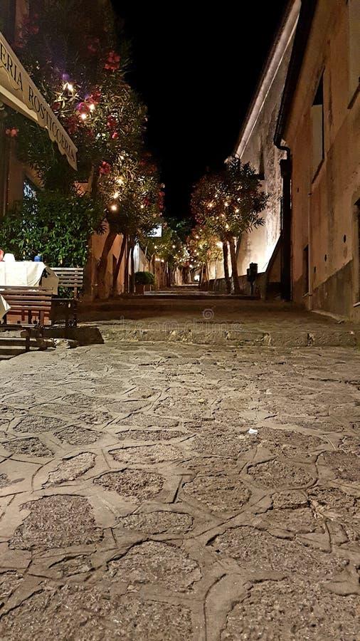 Italian paradise street of Ravello royalty free stock photography