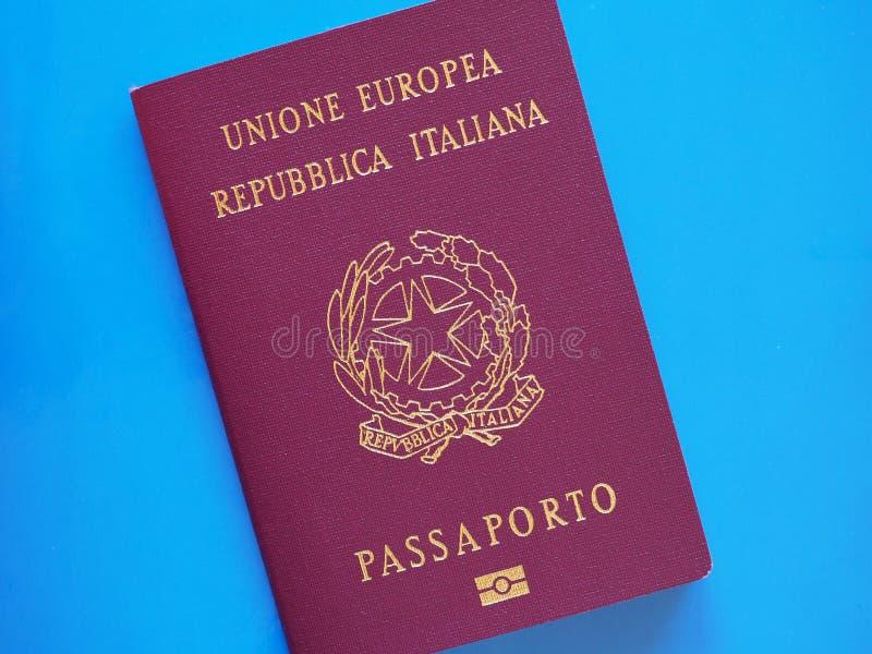 Italian Passport document royalty free stock photography