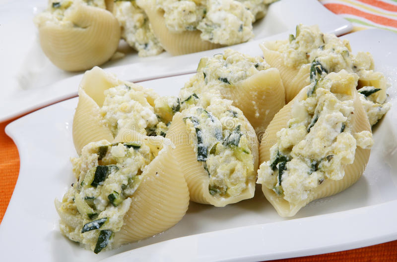 Italian pasta. Italian filled pasta with pumpkins and curd stock photo