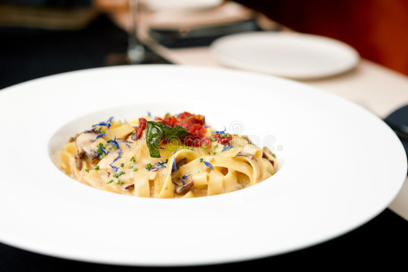 Download Italian pasta stock photo. Image of cream, cooking, mushrooms - 26137040