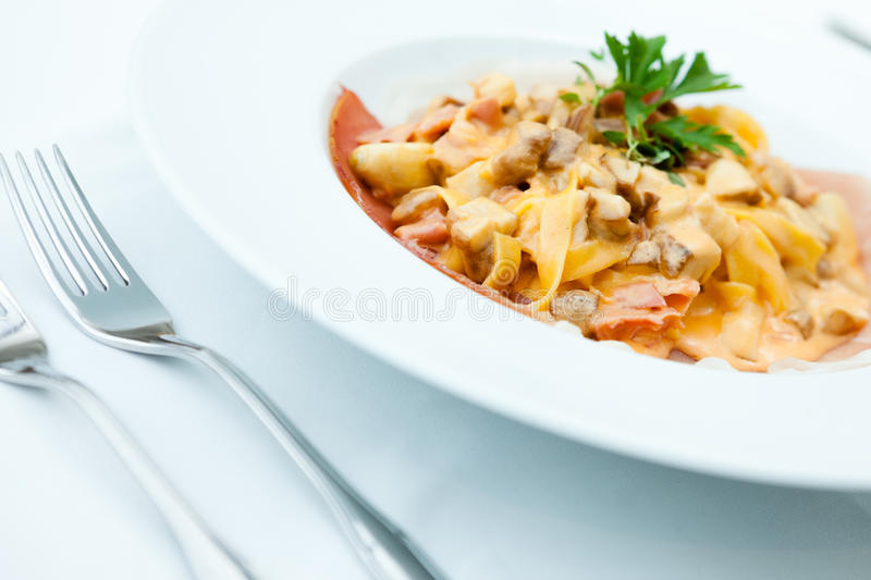 Download Italian pasta stock image. Image of leaf, cooked, cuisine - 26486303