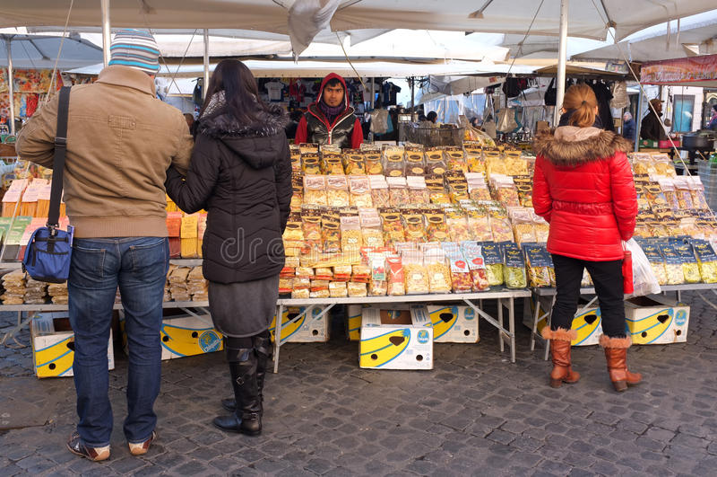 Download Italian pasta editorial image. Image of people, market - 28717175