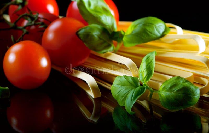 Italian pasta. Ingredients for tasty italian pasta royalty free stock images