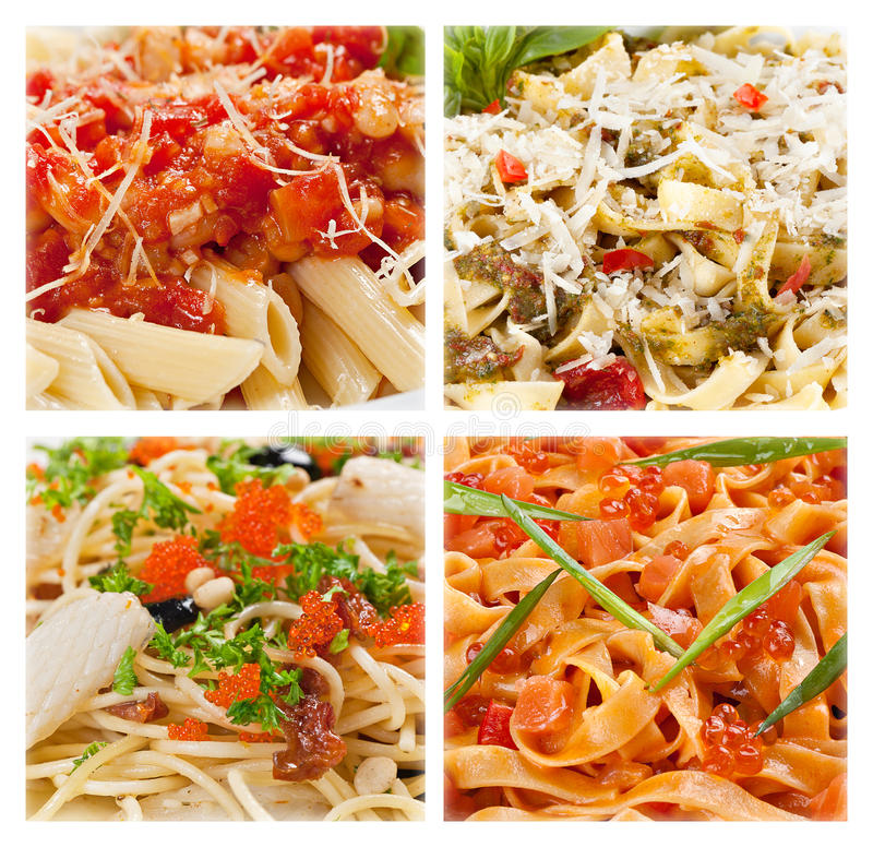 Free Italian Pasta, Clous-up Collection. Stock Photo - 41027470