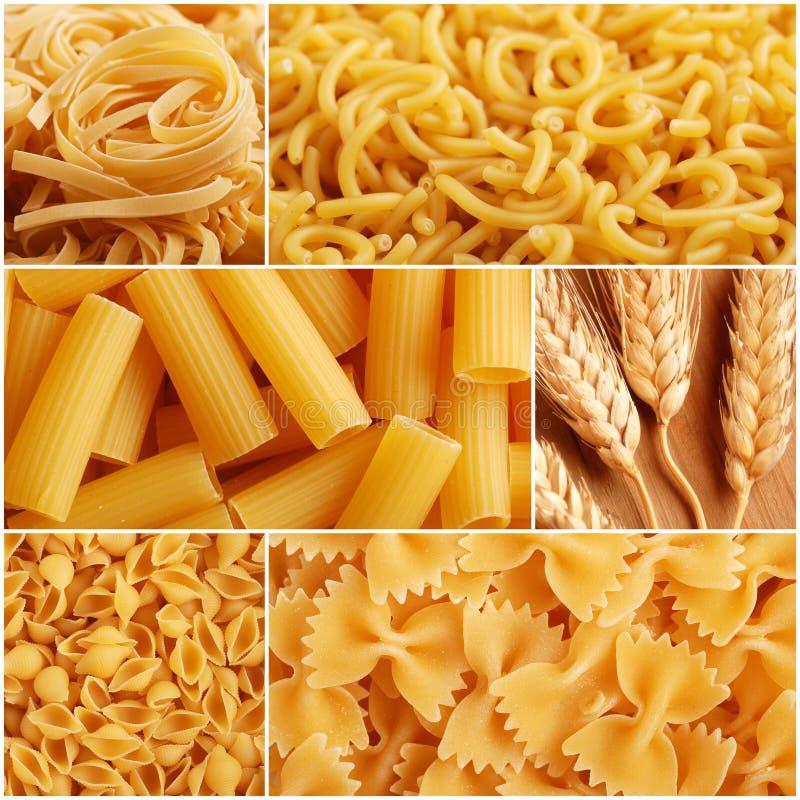 Italian pasta collage royalty free stock image