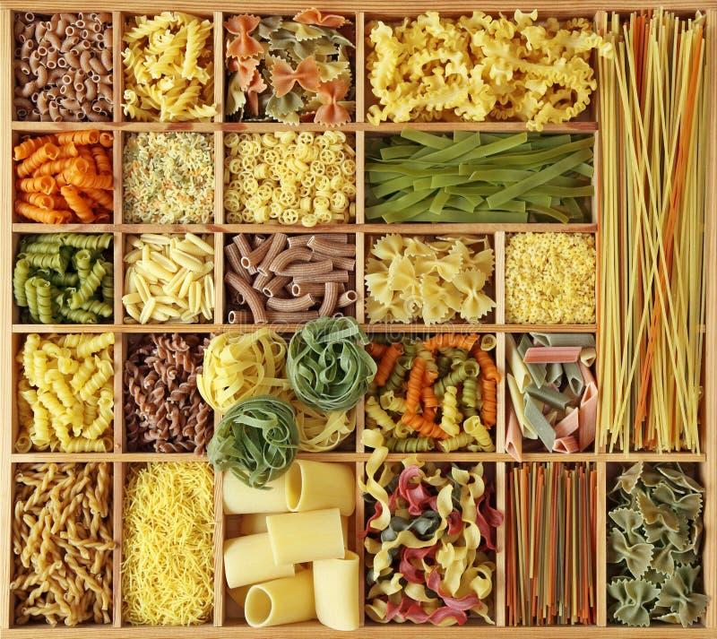 Italian pasta collection stock image