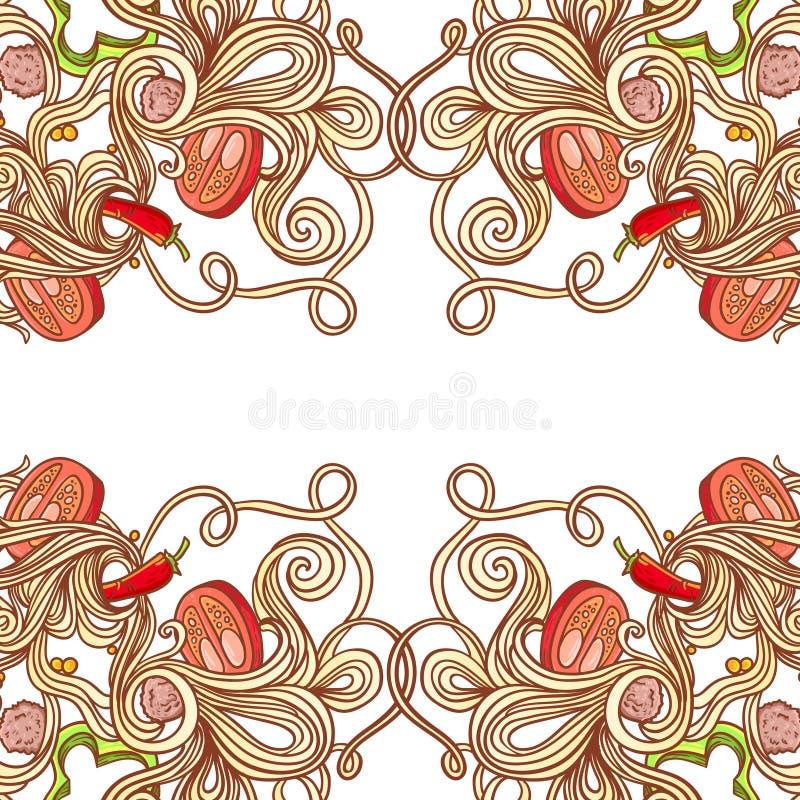 Download Italian Pasta Food Background Stock Illustration - Image: 50450938
