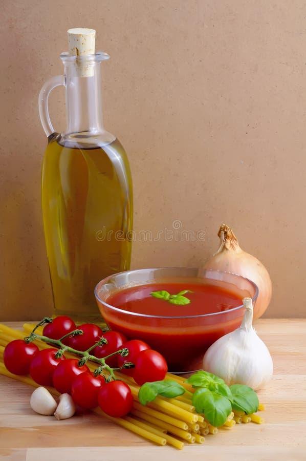 Italian pasta ingredients royalty free stock photo