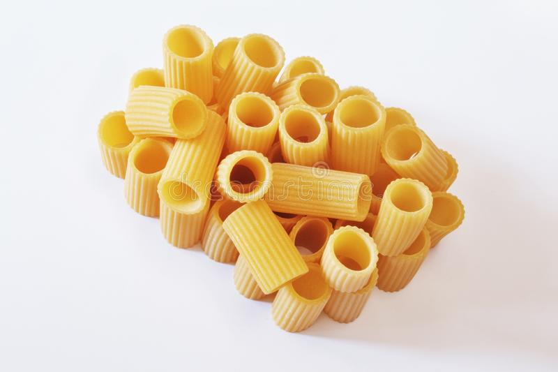 Italian pasta - rigatoni royalty free stock photo