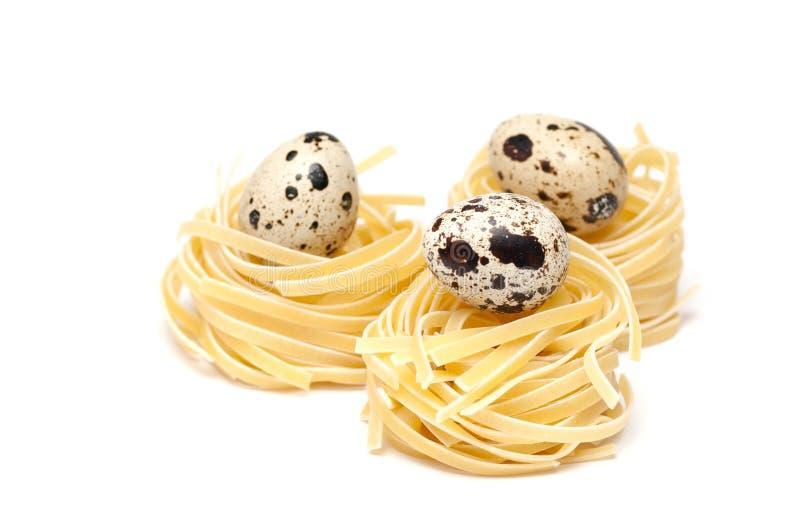 Italian pasta nest stock images