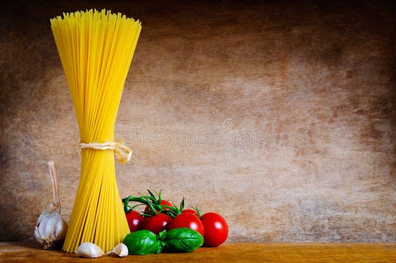Italian pasta still life stock photos