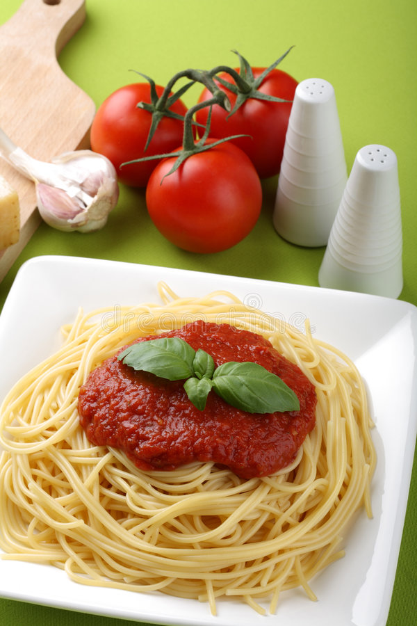 Download Italian Pasta With Tomato Sauce And Parmesan Stock Image - Image: 8305731