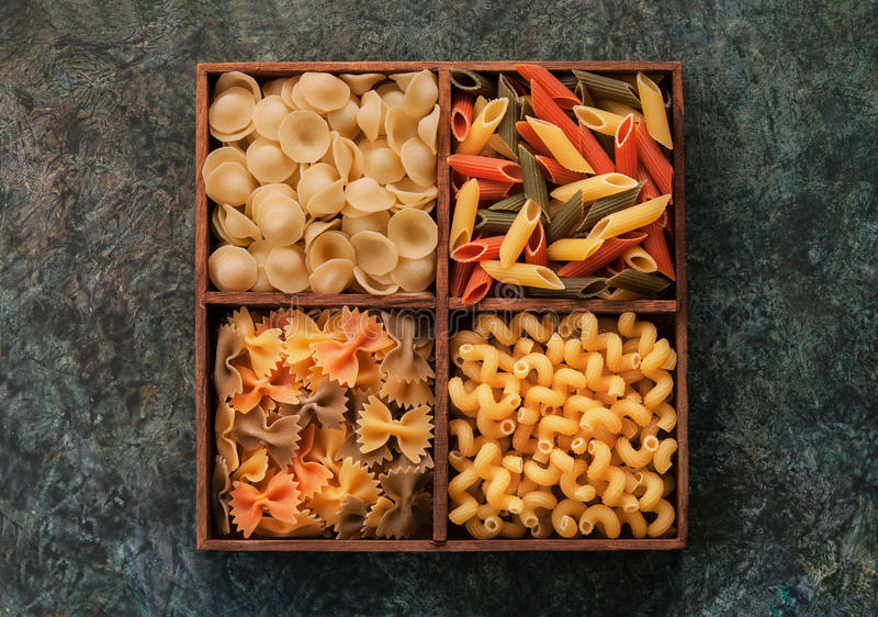 Download Italian Pasta In Wooden Cells Stock Image - Image: 89341939