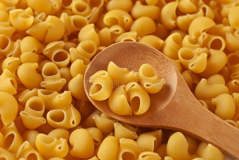 Italian pasta and wooden spoon