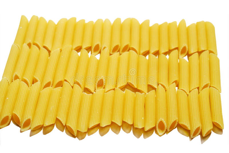Italian Penne Rigate Macaroni Pasta raw food royalty free stock image