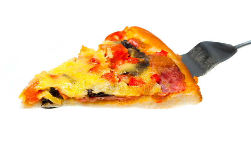 Italian pizza with ham royalty free stock photos