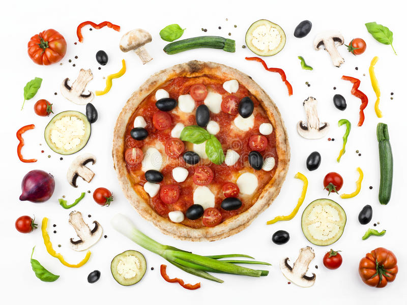 Download Italian Pizza With Its Ingredients Stock Image - Image: 31260565