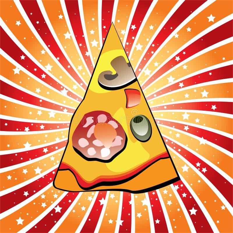 Download Italian pizza slice stock vector. Illustration of mushroom - 19067048