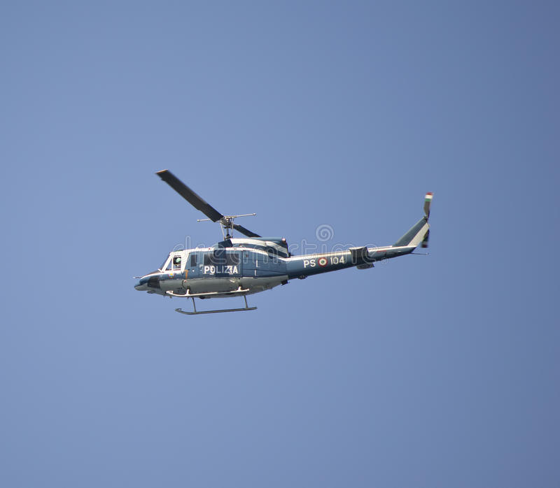 Italian Police Helicopter Editorial Stock Photo