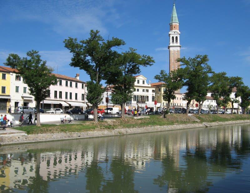 Italian Postcard: Dolo (Venice). Urban postcard of Dolo, a beautiful little town near Venice, Italy royalty free stock photos