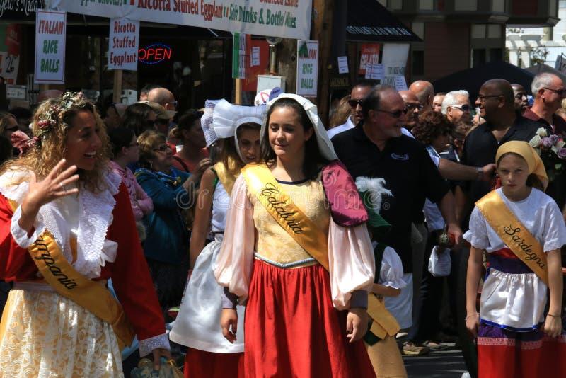 Italian procession royalty free stock photography
