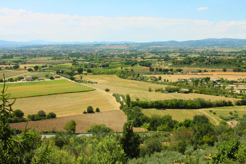 Italian province, fields stock photo