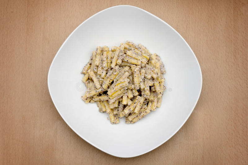 Italian Recipe: Pasta With Truffle Sauce Royalty Free Stock Images