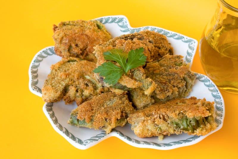 Italian Recipes - Fried Artichokes royalty free stock photo