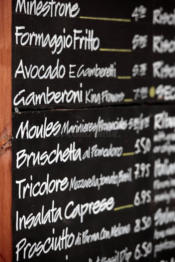 Brand-new Italian Restaurant Chalk Menu Board, Blackboard, Vertical Stock  WC24