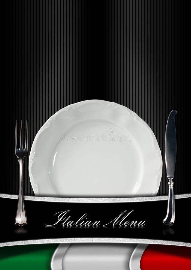 Italian Restaurant Menu Design Stock Illustration - Illustration of ...