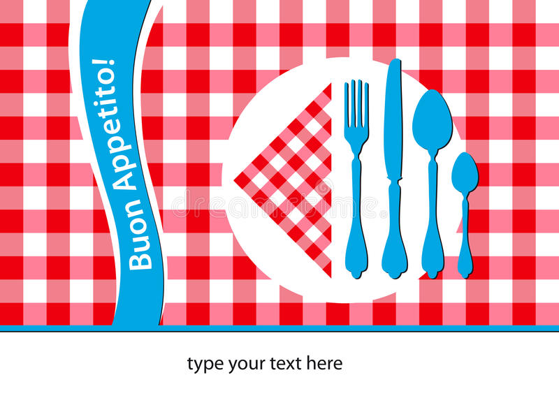 Download Italian Restaurant Placemat Stock Image - Image: 19297387