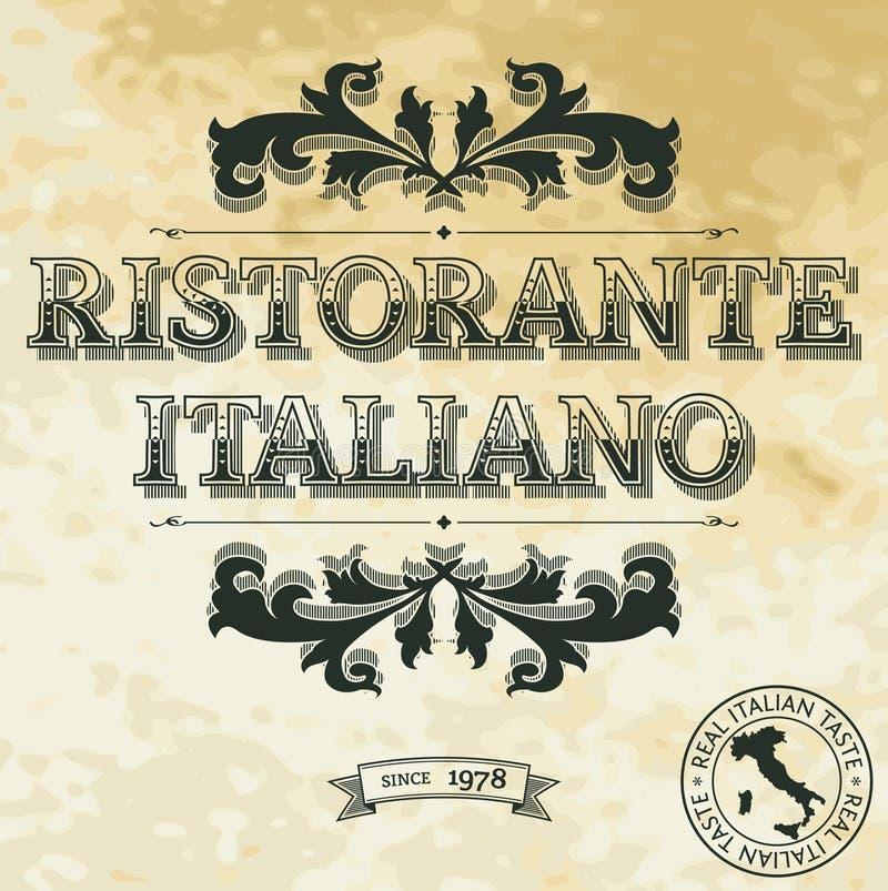 Download Italian Restaurant stock vector. Image of marketing, text - 31548699