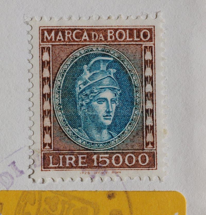 Italian revenue stamp in Rome stock images