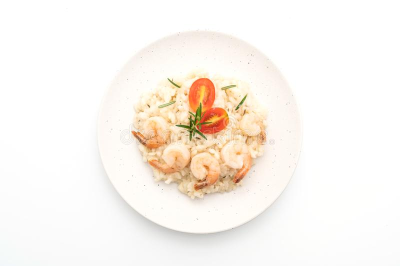italian risotto with shrimps royalty free stock photo