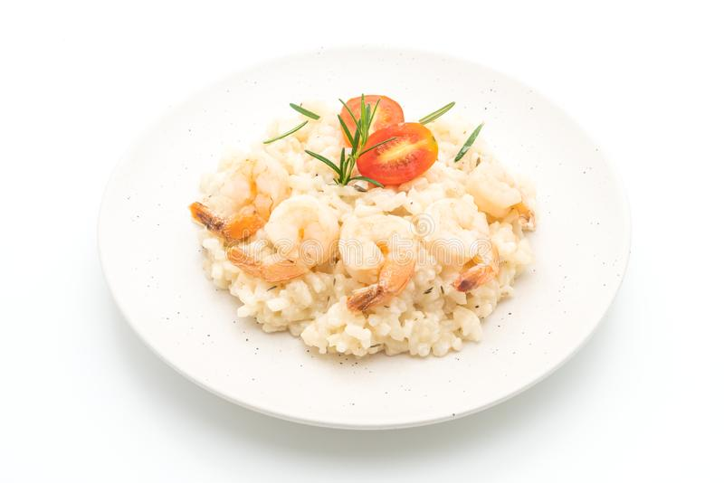 italian risotto with shrimps stock photography