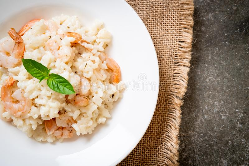 italian risotto with shrimps royalty free stock photography